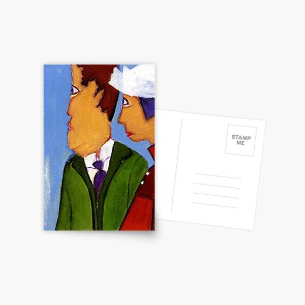 the parents of the bride Postcard