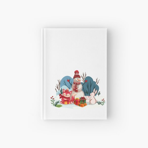 Christmas Snowman And His Furry Friends-White Christmas™ Hardcover Journal