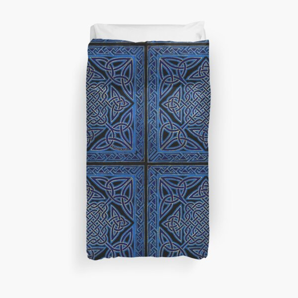 Celtic Meditation Blue Duvet Cover