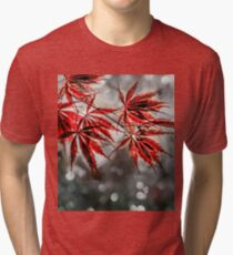 Japanese Red Maple Leaves  Tri-blend T-Shirt