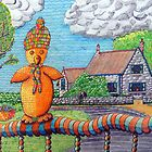340 - SITTING ON THE FENCE - DAVE EDWARDS - COLOURED PENCILS - 2011 by BLYTHART