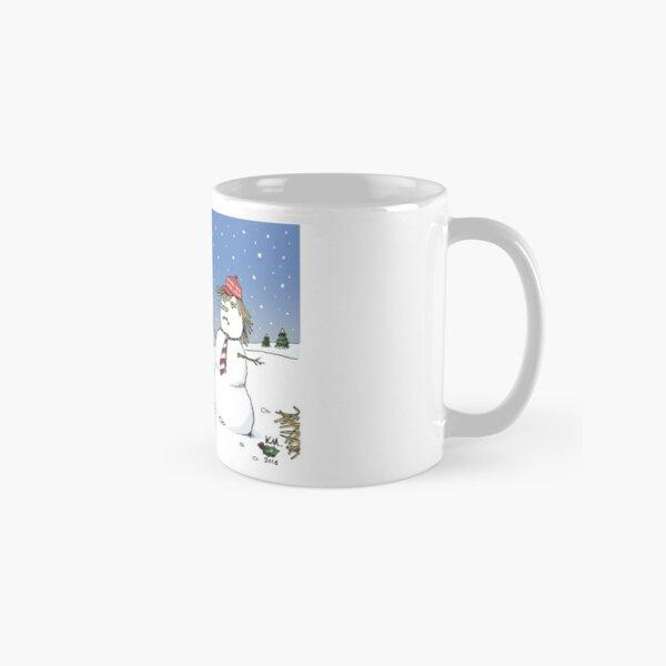 Pandas and snowman Classic Mug
