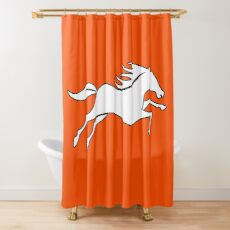 Draw Lock Jersey - orange color Shower Curtain