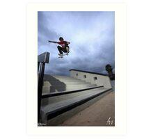 Jan Lashly - Kickflip  Art Print
