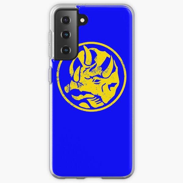 Blue Triceratops Power symbol Samsung Galaxy Soft Case