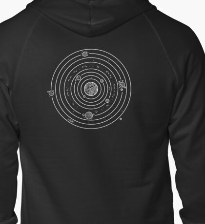Solar System Zipped Hoodie
