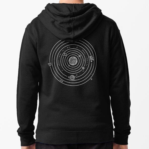 Solar System Zipped Hoodie