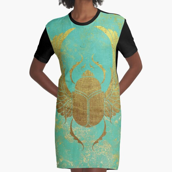 Ancient Egypt -Scarab Graphic T-Shirt Dress