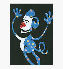 Blue Monkey Photographic Print