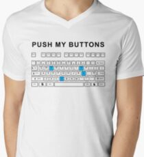 Push my buttons Men's V-Neck T-Shirt