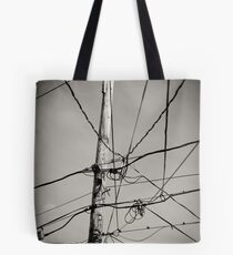 High wires keeping us all in touch.. Tote Bag