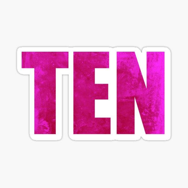 Ten Album T-shirt Sticker