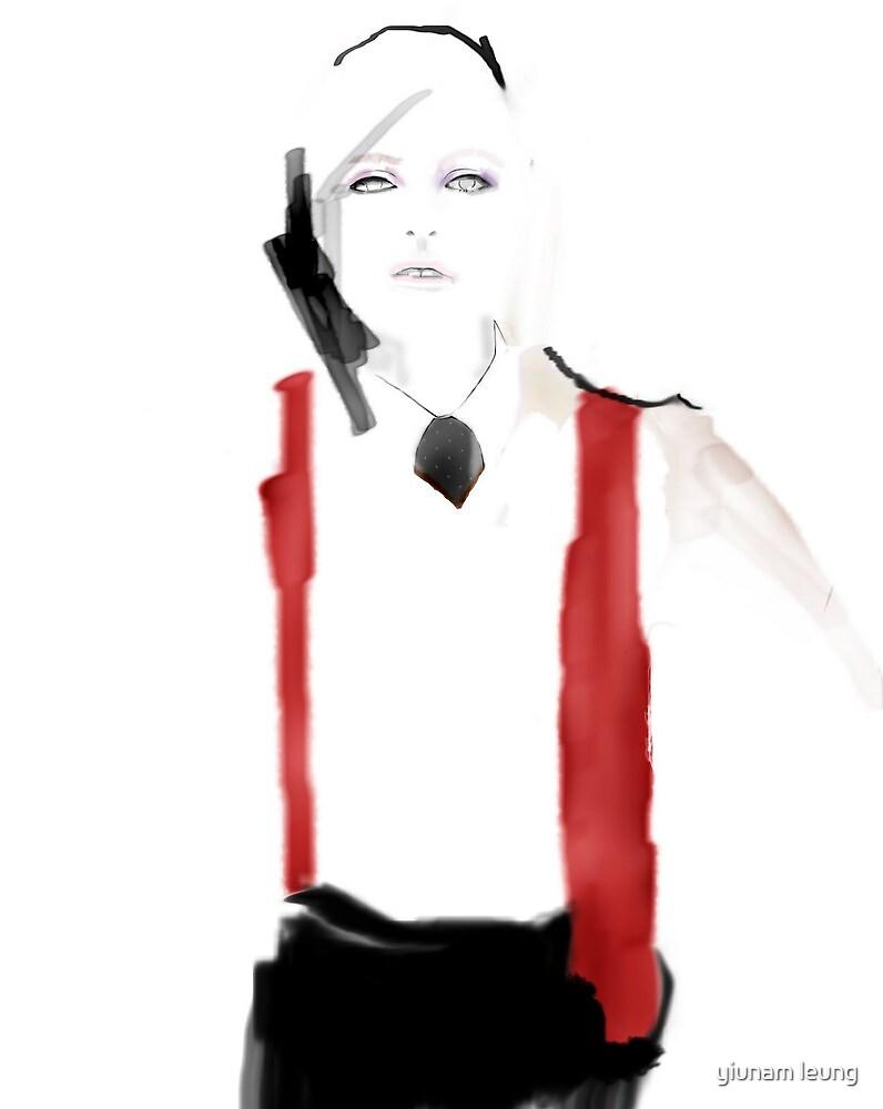 watercolor, ink , digital fashion illustration by yiunam leung
