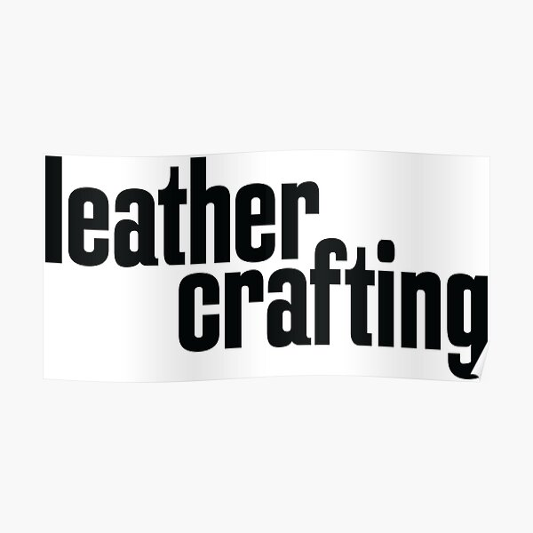 Leather Crafting Poster