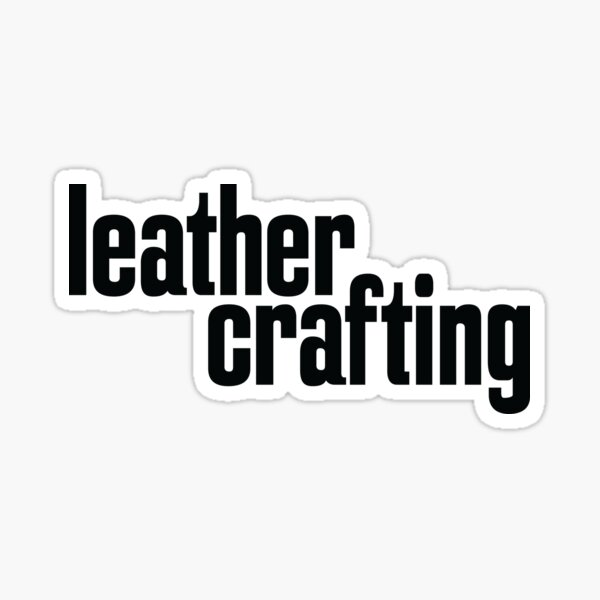 Leather Crafting Sticker