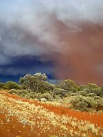 Dust Storm meets Thunderstorm by outbackwriter