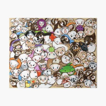 One Hundred Million Ferrets Art Board Print