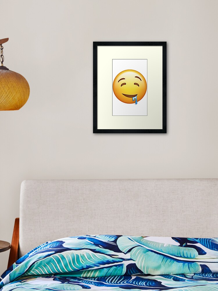Emotions Black Emoji Emoticon Sleepy Sad Smiley Red Yellow Bedding Or Curtains