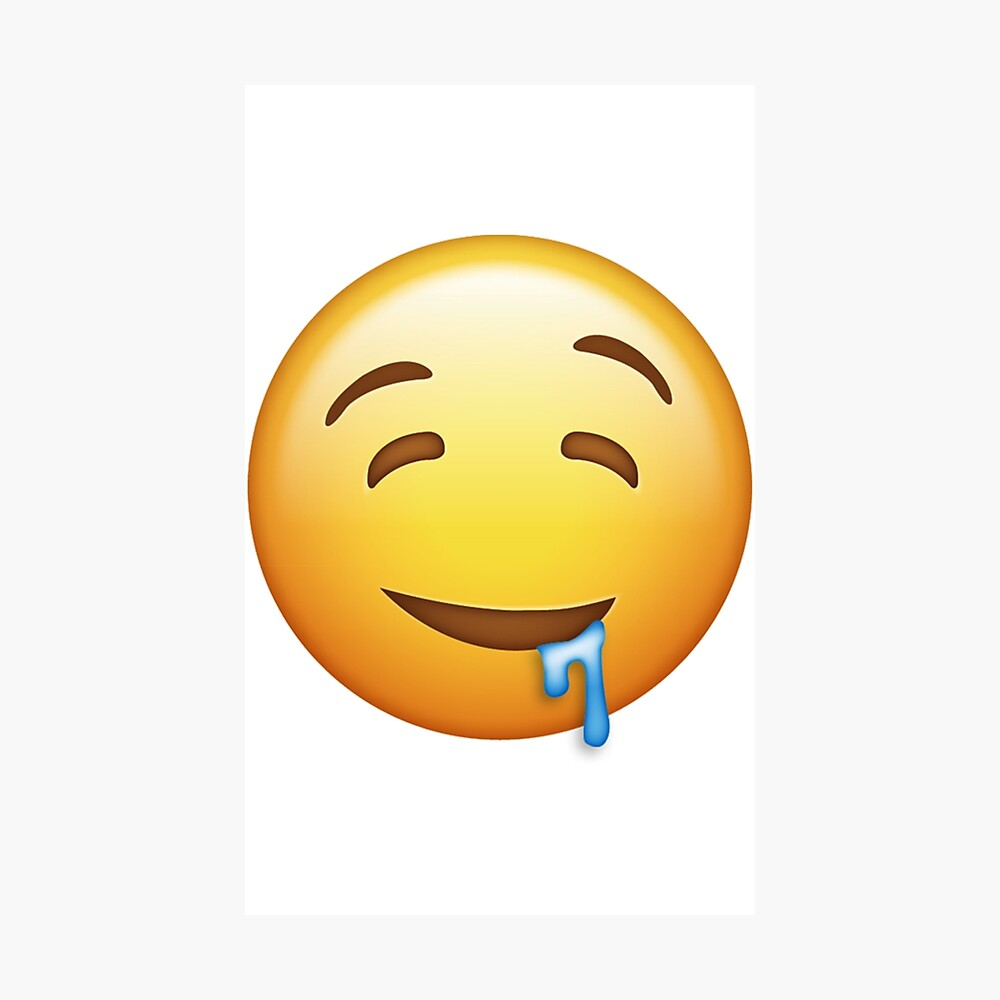Poster Emoji Bave Par Fruitfulmerch Redbubble