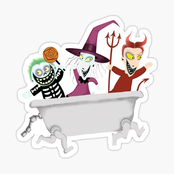 nightmare before Christmas trick or treaters Sticker