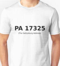 PA 17325 (The Gettysburg Address) Unisex T-Shirt