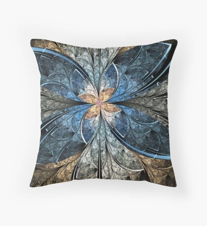 Elliptic Butterfly Throw Pillow