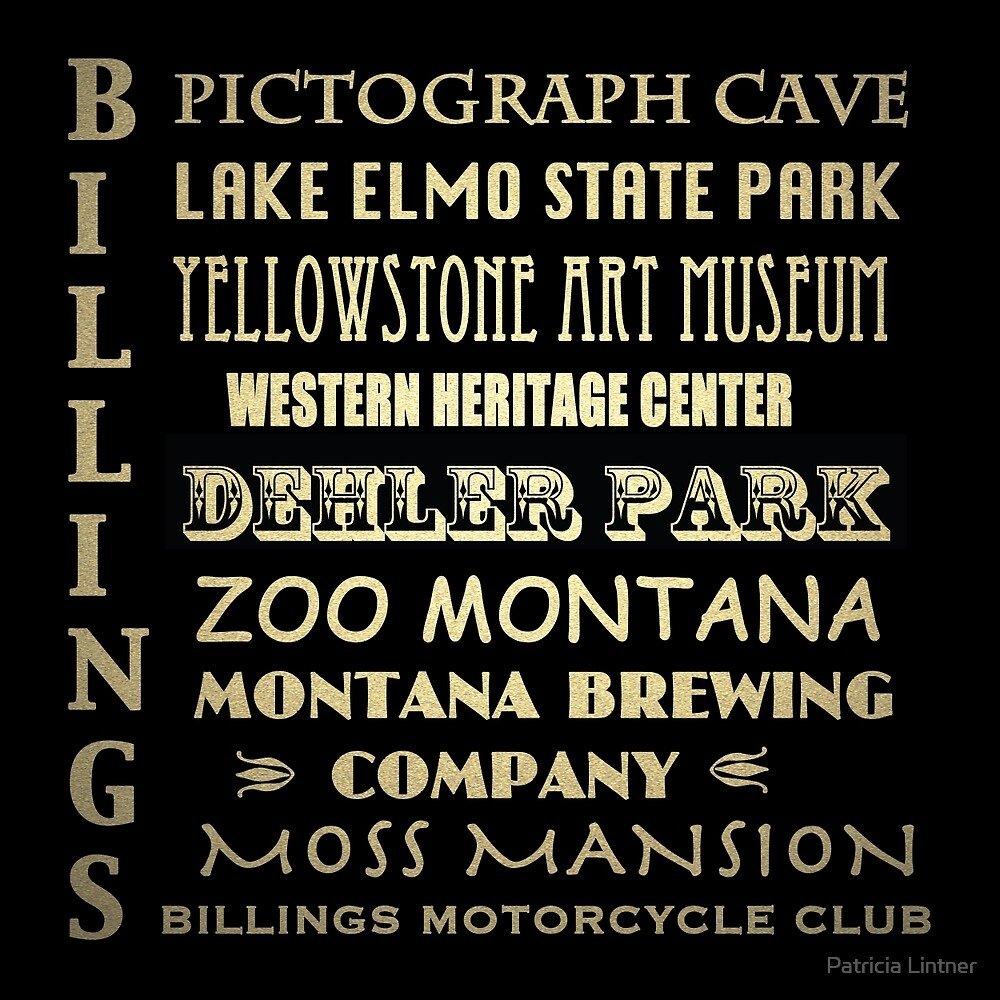 Billings Montana Famous Landmarks by Patricia Lintner