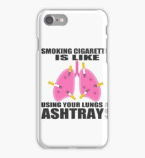 Ashtray lungs iPhone Case/Skin