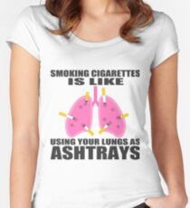 Ashtray lungs Women's Fitted Scoop T-Shirt