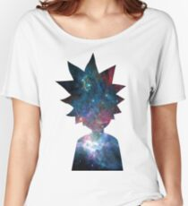 Rick and Morty Galaxy Design Women's Relaxed Fit T-Shirt