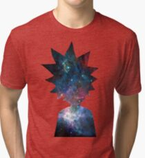 Rick and Morty Galaxy Design Tri-blend T-Shirt