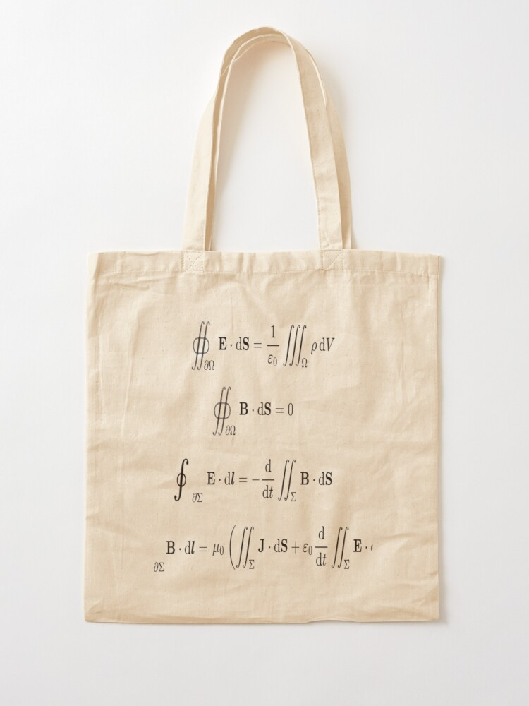 Alternate view of Maxwell's equations, #Maxwells, #equations, #MaxwellsEquations, Maxwell, equation, MaxwellEquations, #Physics, Electricity, Electrodynamics, Electromagnetism Tote Bag