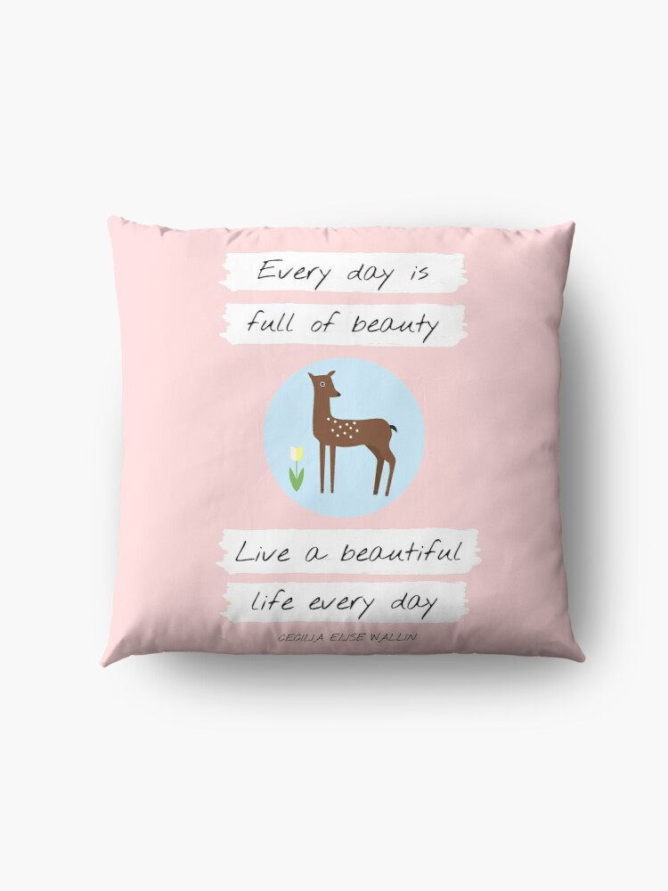 Alternate view of UPLIFTING QUOTE  (deer, animal) from Inventicity™ Floor Pillow