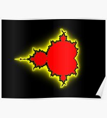 Earth People & Space Mandelbrot Poster
