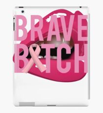 Brave Bitch Breast Cancer Fight Survive iPad Case/Skin