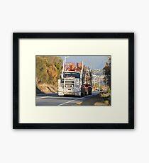 Logging to Hobart, Tasmania Framed Print