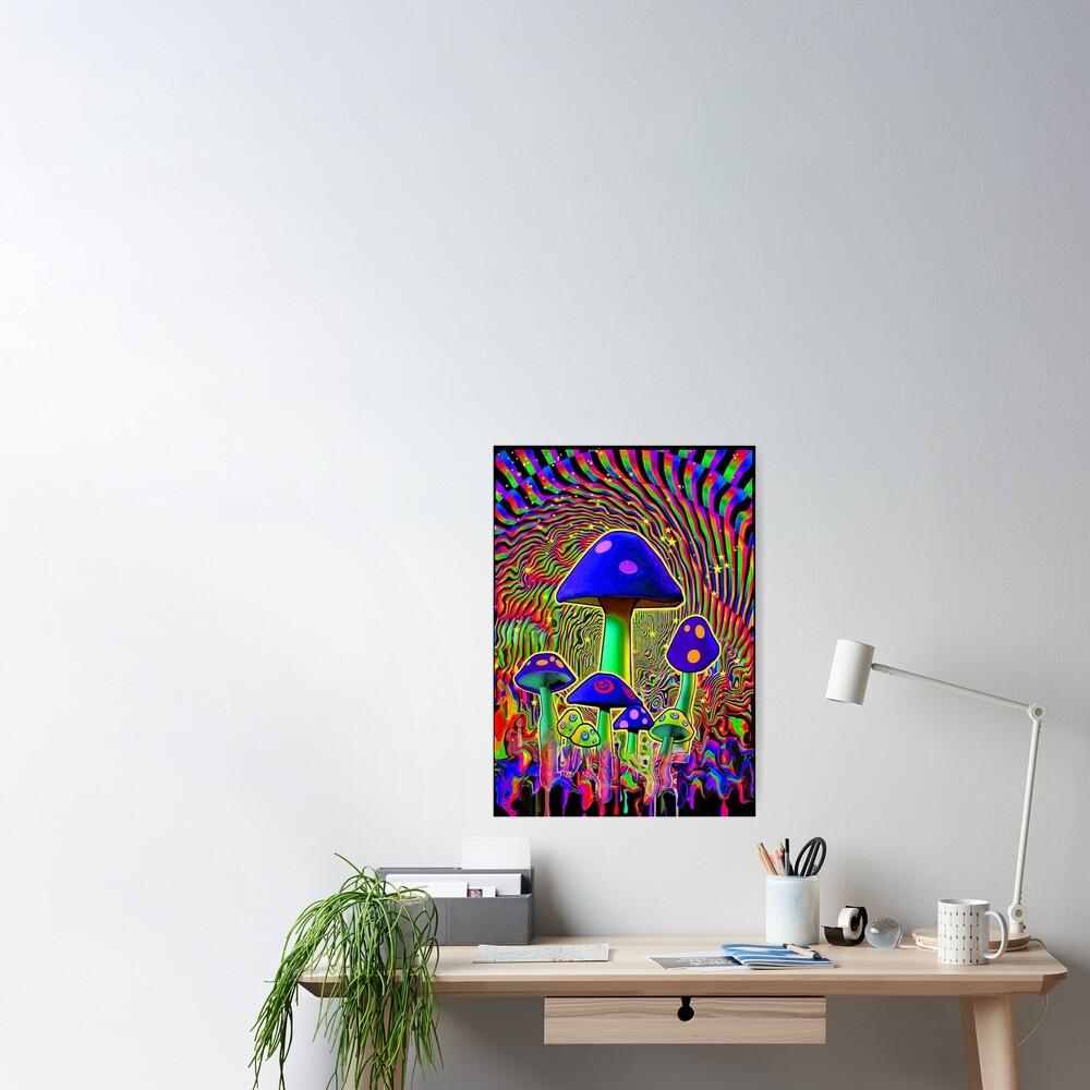 MIND MELT - MUSHROOMS BLACK LIGHT  Poster