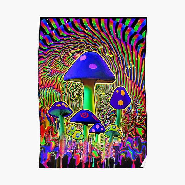MIND MELT - MUSHROOMS BLACK LIGHT  Poster
