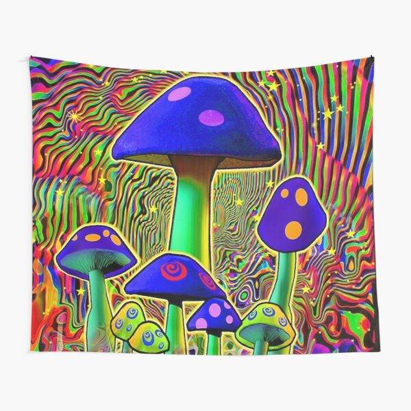MIND MELT - MUSHROOMS BLACK LIGHT  Tapestry