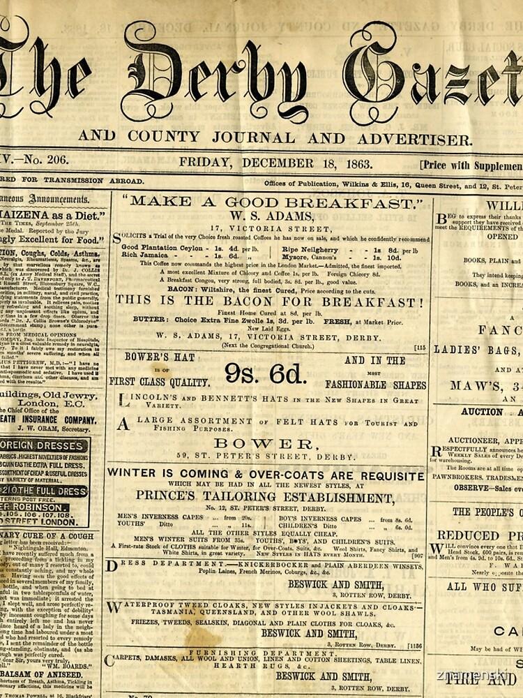 Old Newspapers, The Derby Gazette by znamenski
