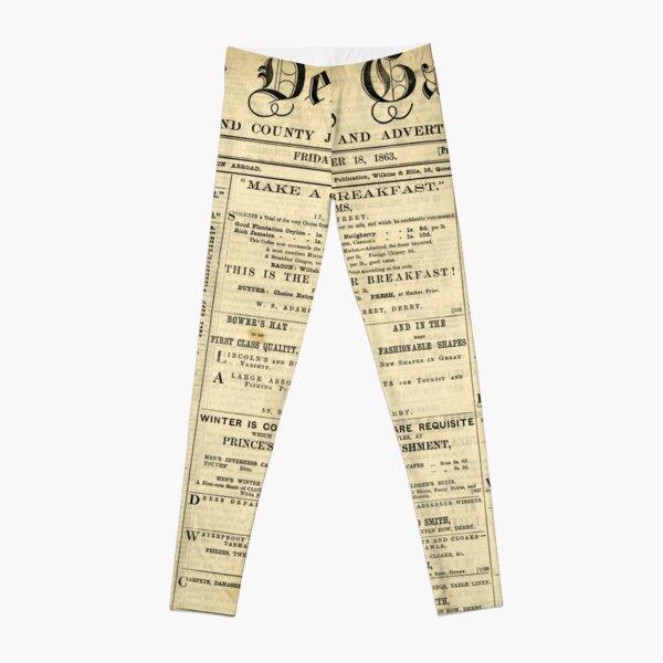Old Newspapers, The Derby Gazette Leggings