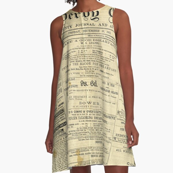 Old Newspapers, The Derby Gazette A-Line Dress