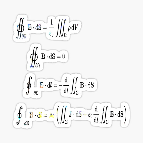 Maxwell's equations are partial differential equations that relate the electric and magnetic fields to each other and to the electric charges and currents Sticker