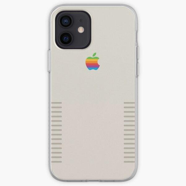 Conception de pomme rétro Coque souple iPhone