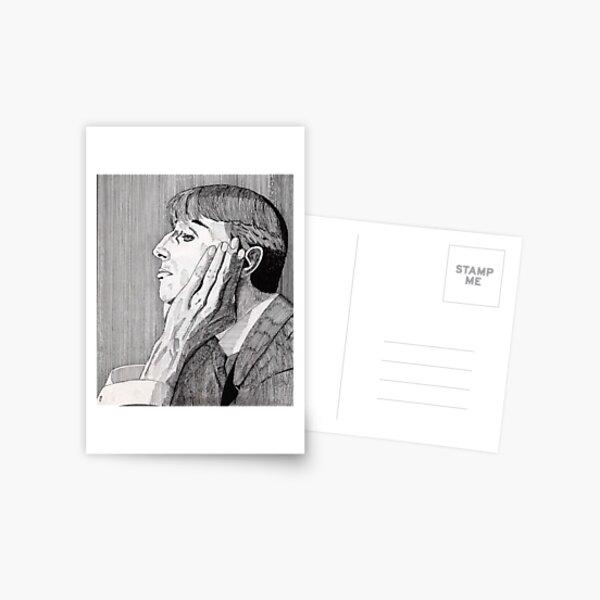 133 - AUBREY BEARDSLEY (INK) 1987 Postcard