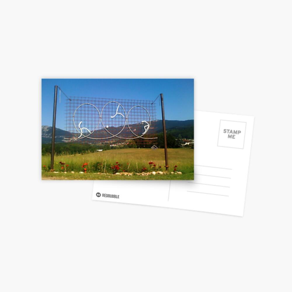 """Sculpture of """"Loops"""" Postcard"""