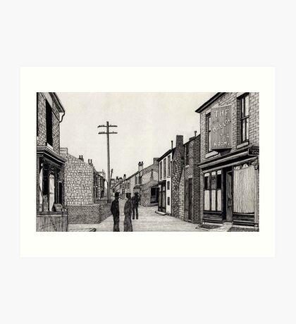 134 - RHOSLLANERCHRUGOG HIGH STREET, NORTH WALES (INK) 1987 Art Print