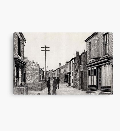 134 - RHOSLLANERCHRUGOG HIGH STREET, NORTH WALES (INK) 1987 Canvas Print