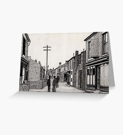 134 - RHOSLLANERCHRUGOG HIGH STREET, NORTH WALES (INK) 1987 Greeting Card
