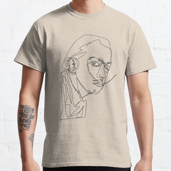ONE LINED DALI Classic T-Shirt